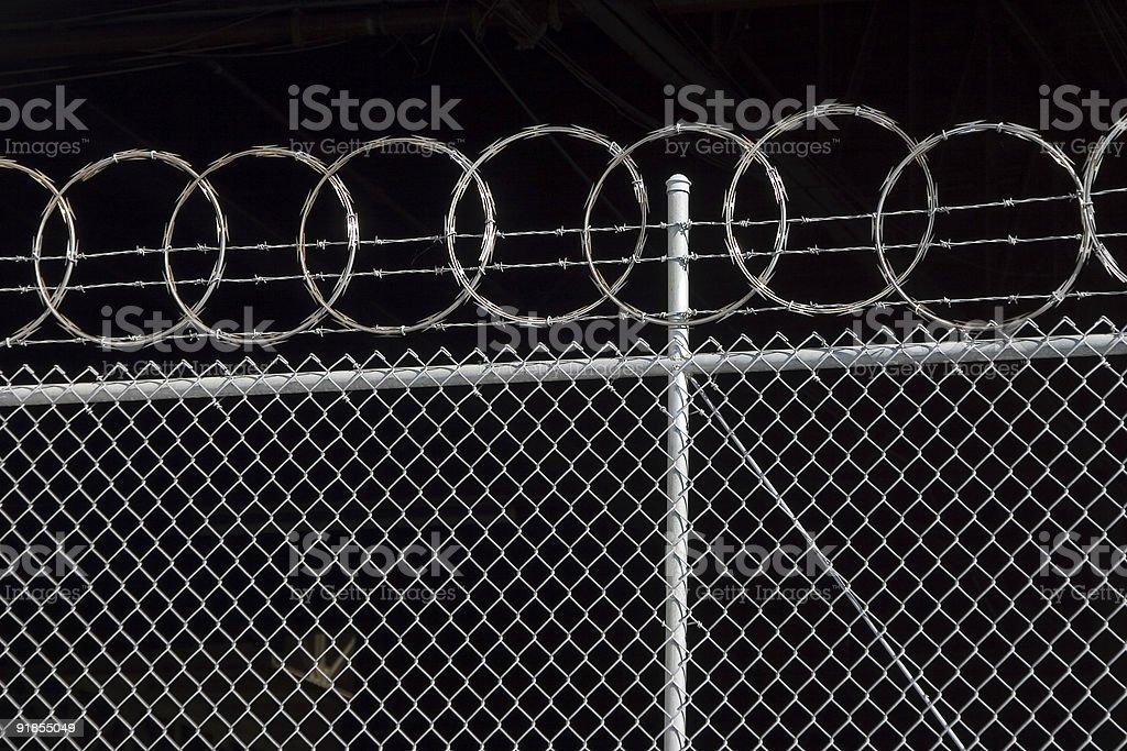 Razor Fence stock photo