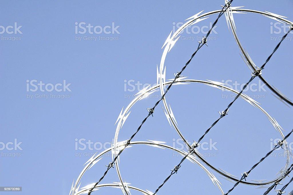 Razor  Wire 3 stock photo