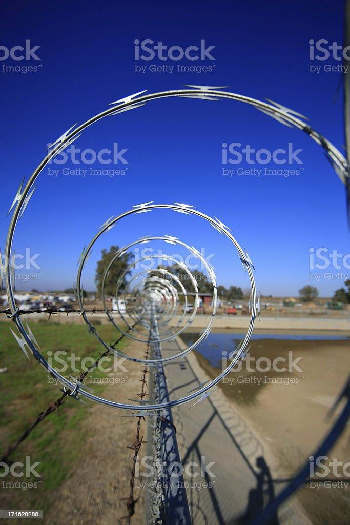 Razor Wire Hoops stock photo