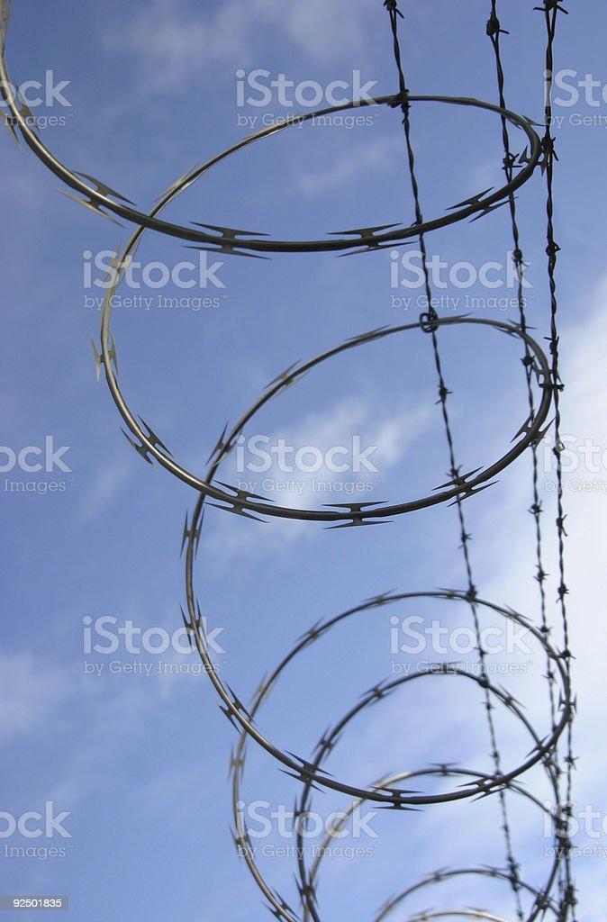 Razor Wire #1 stock photo