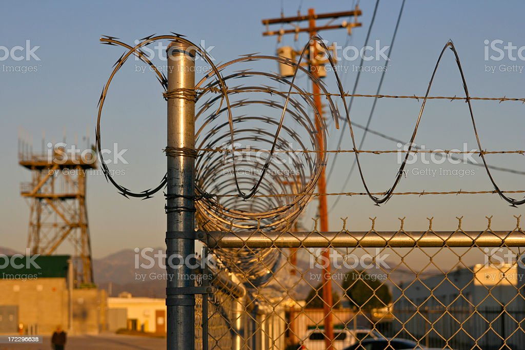 Razor Wire Security royalty-free stock photo