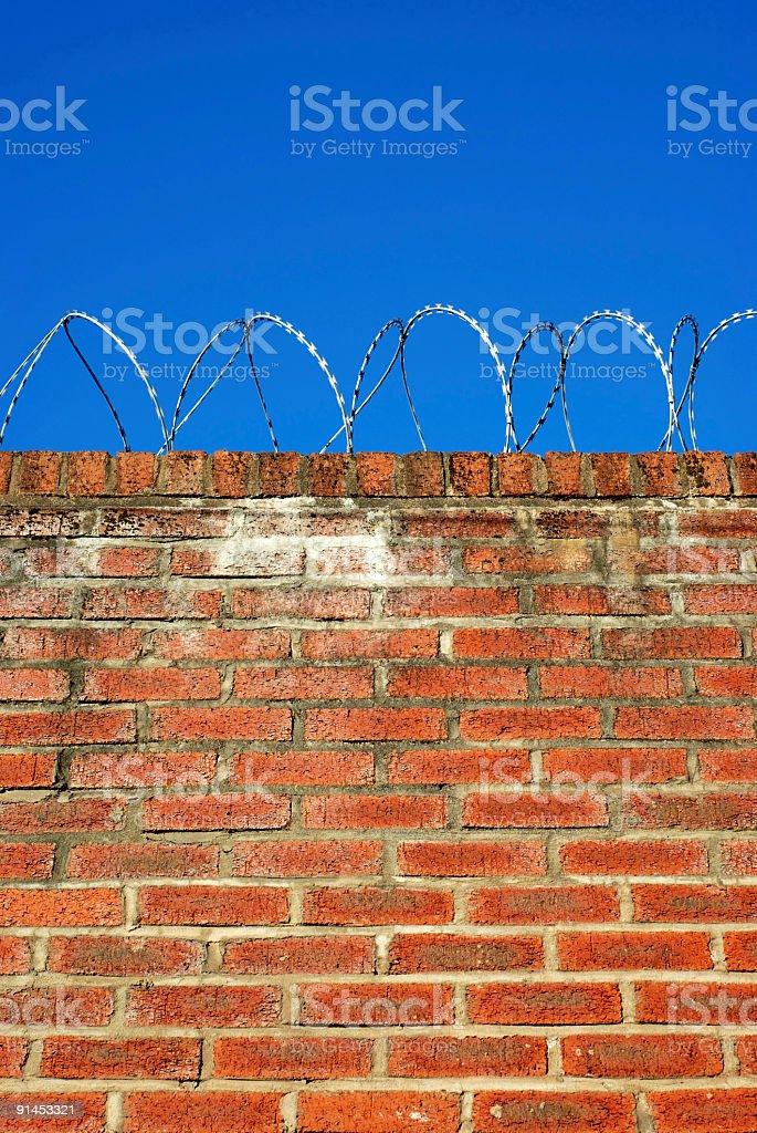 Razor wire wall royalty-free stock photo