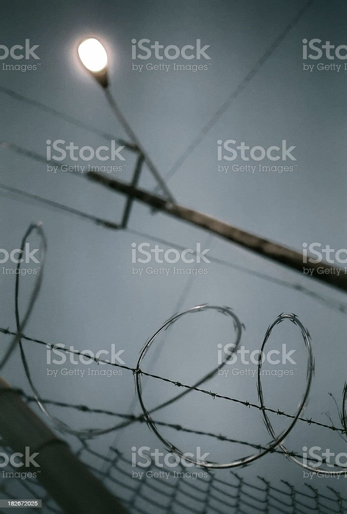 Razorwire stock photo