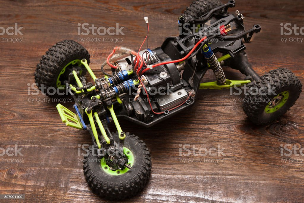 Rc car model toy without wheel stock photo