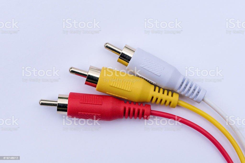 Rca connector stock photo
