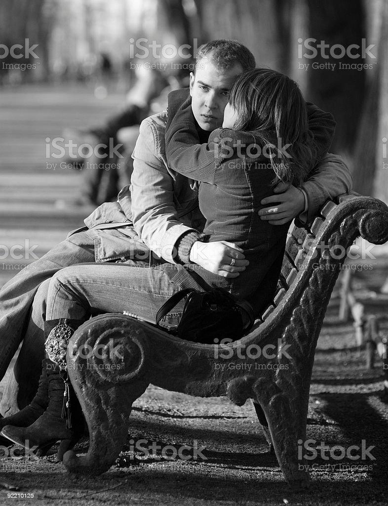 R?conciliation des amants royalty-free stock photo