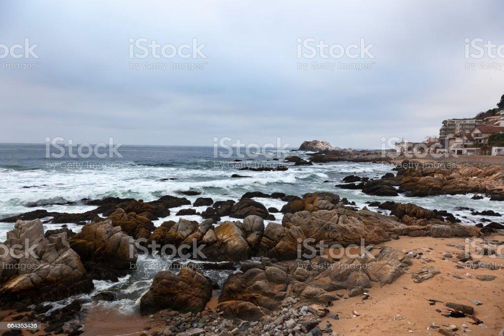 Reñaca beach stock photo