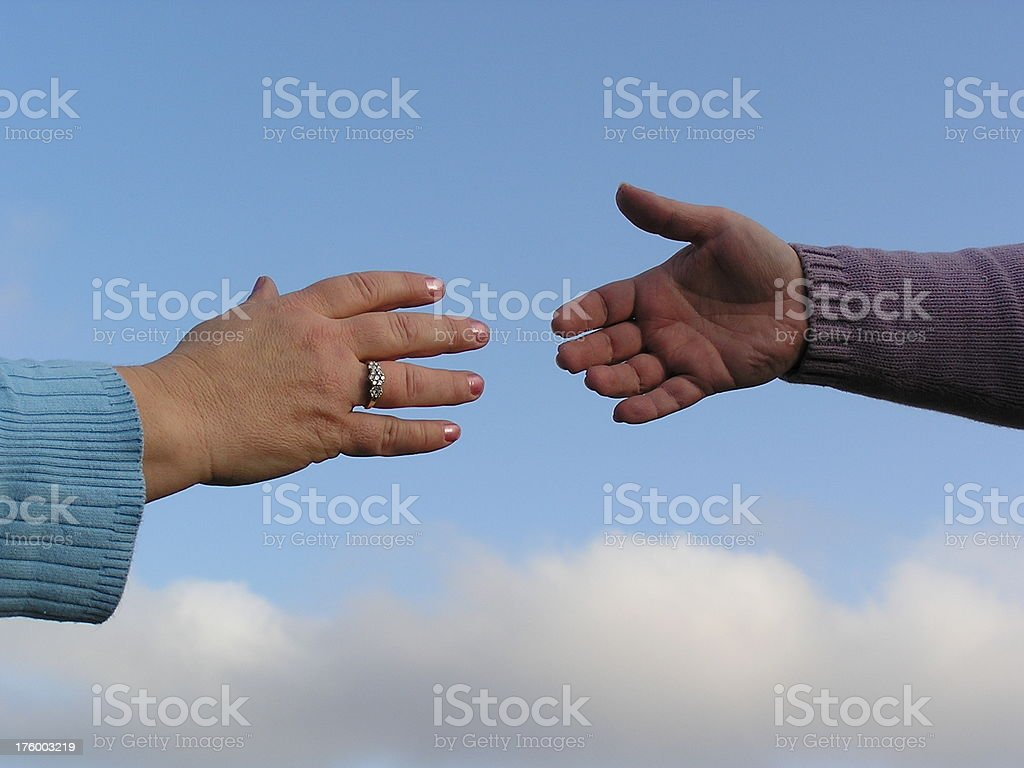 Reach for a Helping Hand stock photo