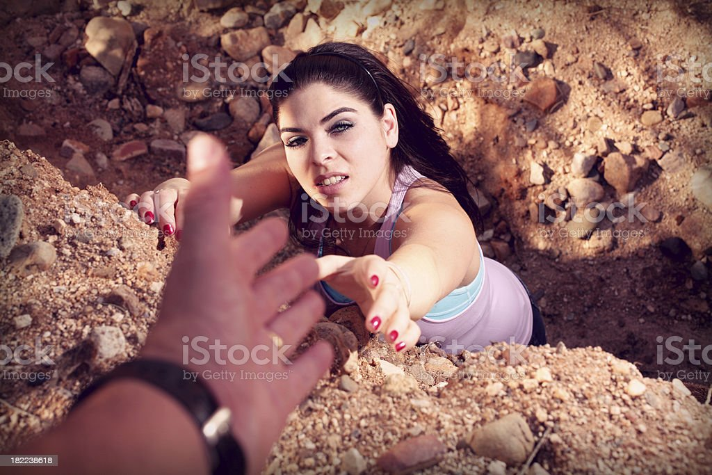Reach for Help royalty-free stock photo