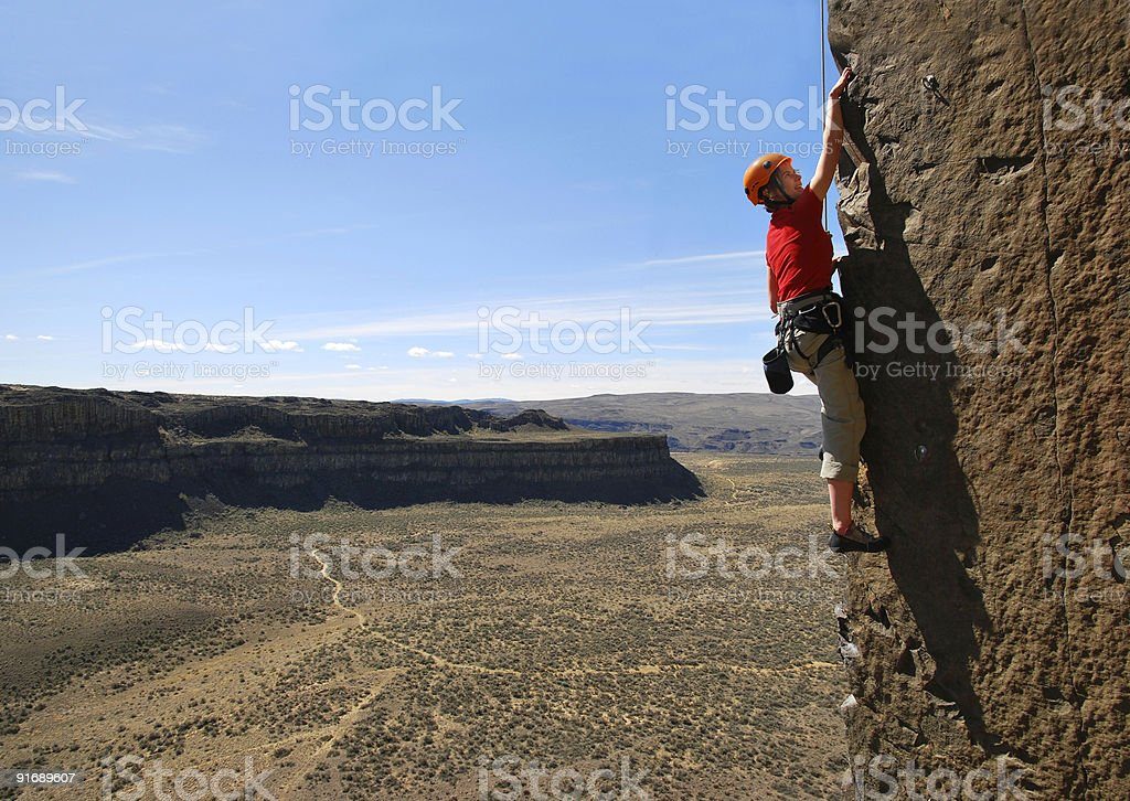 Reach for it royalty-free stock photo