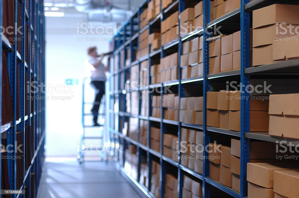 reach for the files royalty-free stock photo
