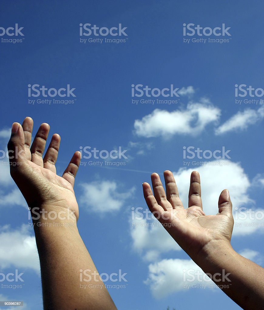 Reach for the skies stock photo