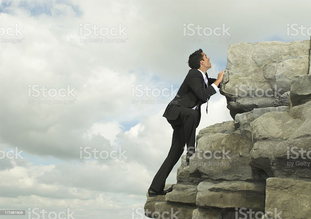 reach for the top stock photo