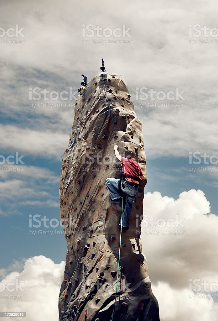 Reach for the top royalty-free stock photo