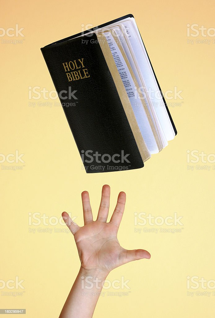 Reach for the Word royalty-free stock photo