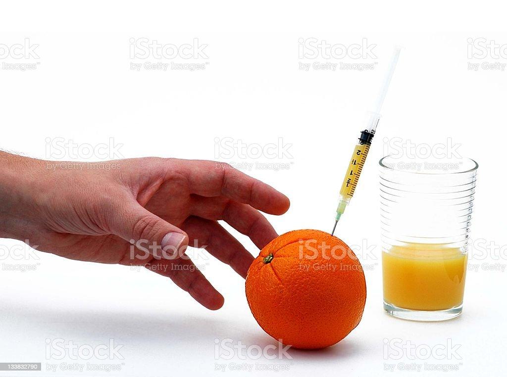 Reach for vitamin C stock photo