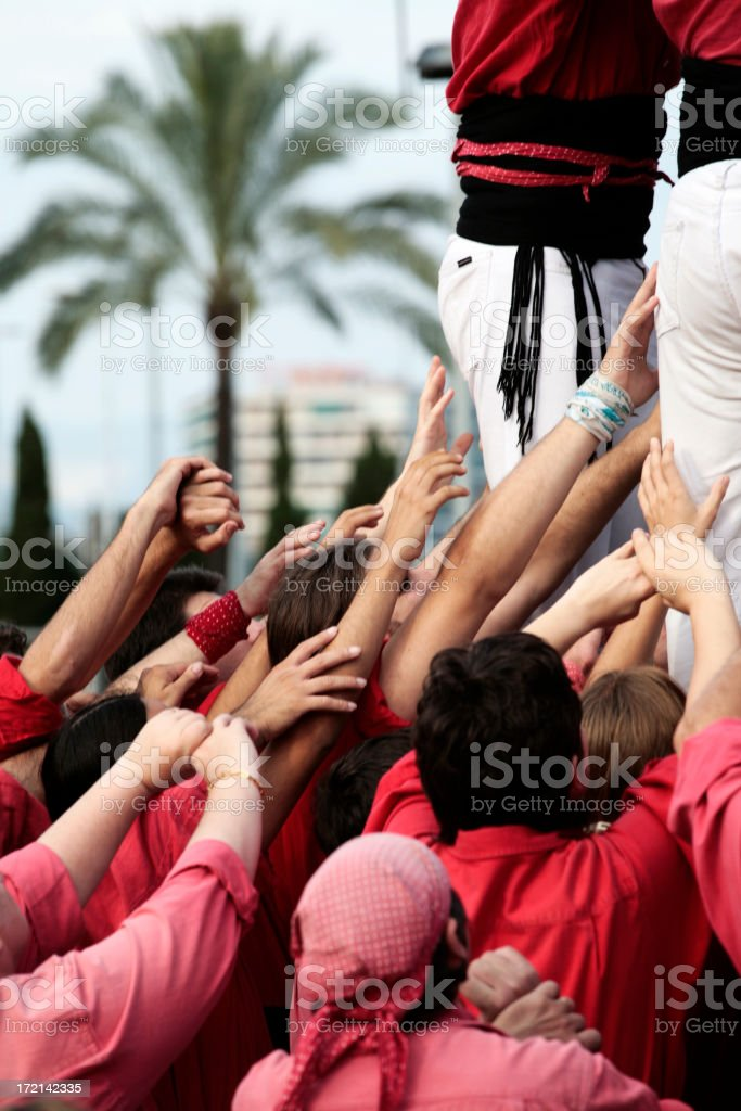 Reach out and touch faith stock photo