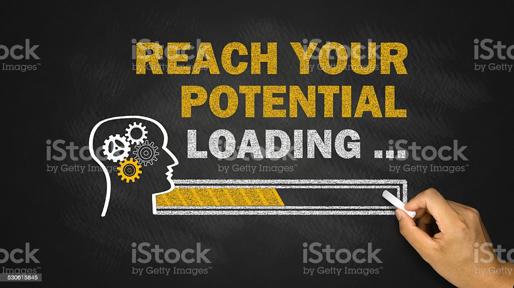 reach your potential concept stock photo