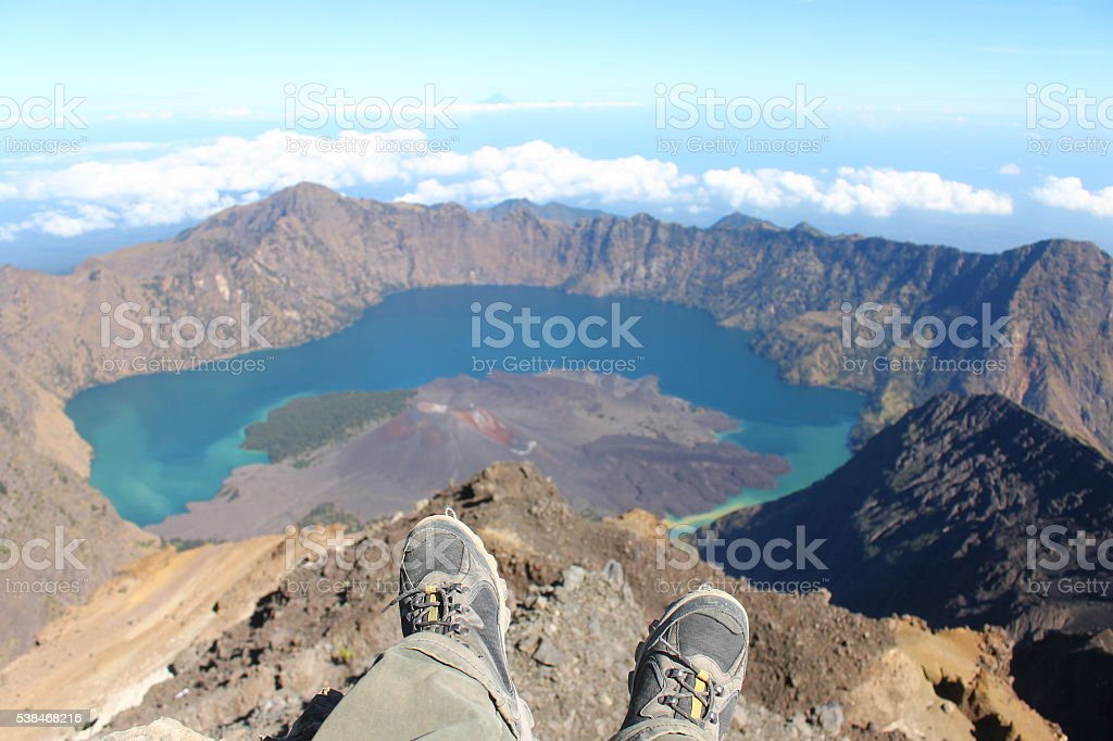 Reached the top stock photo