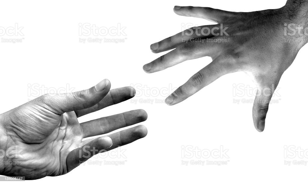 reaching a hand royalty-free stock photo