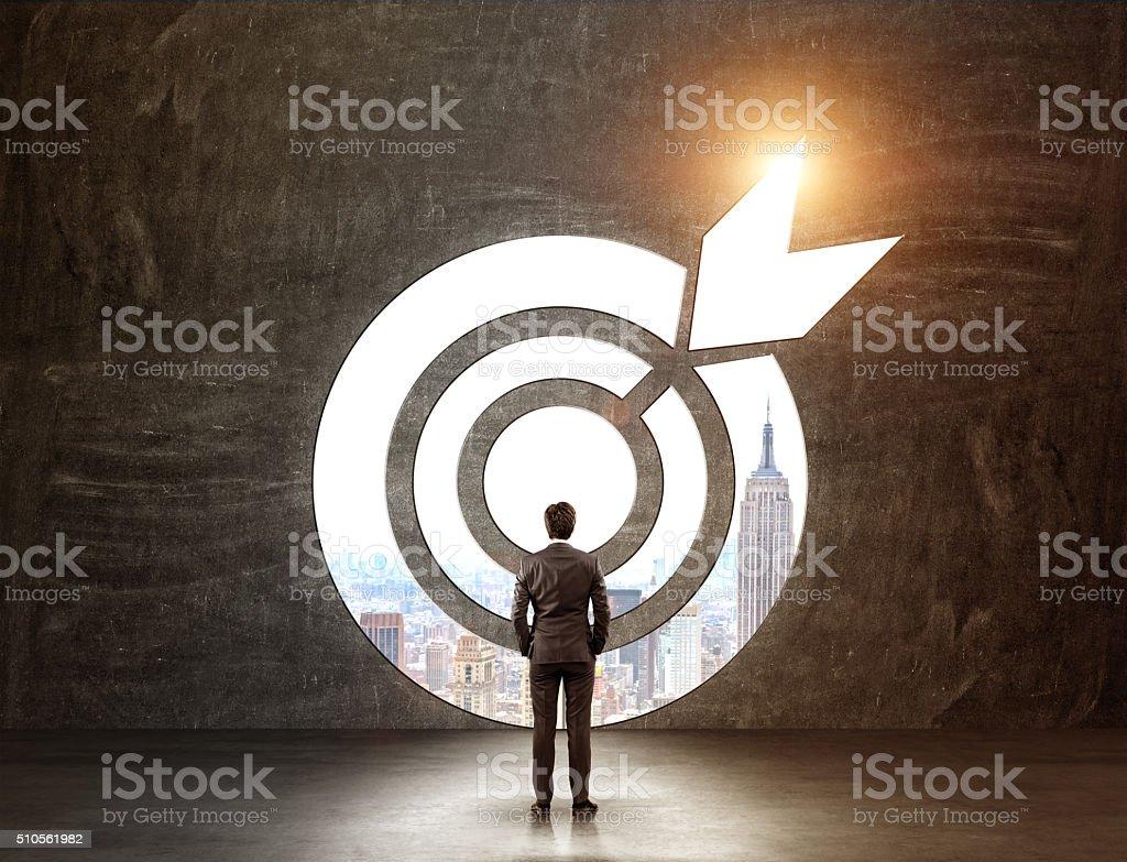 Reaching an aim stock photo
