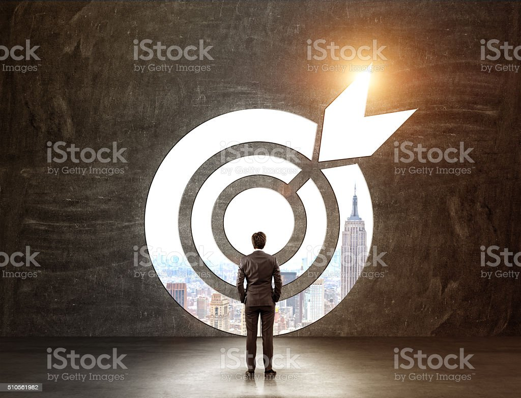 Reaching an aim stock photo