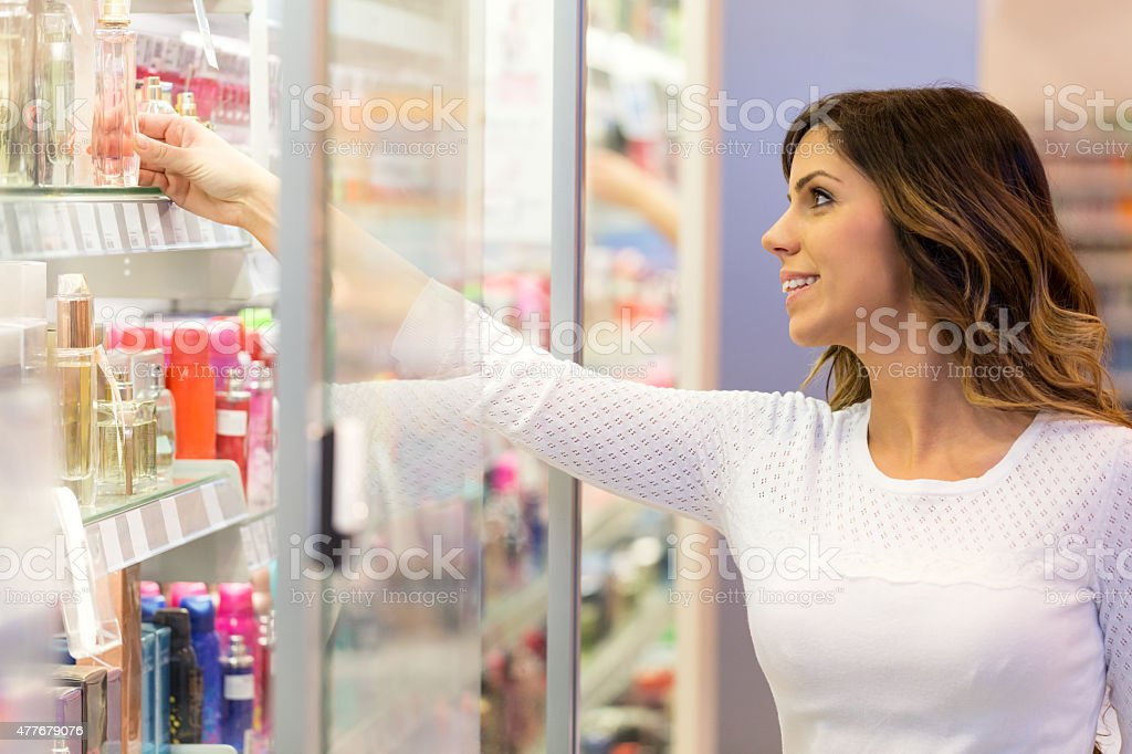 Reaching for perfect scent stock photo