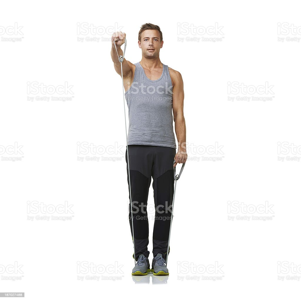 Reaching for strength and definition royalty-free stock photo
