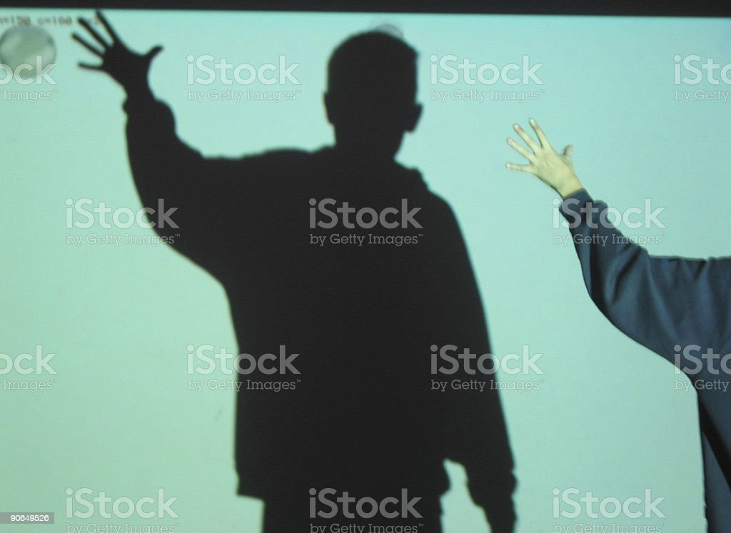 reaching for the baloon royalty-free stock photo