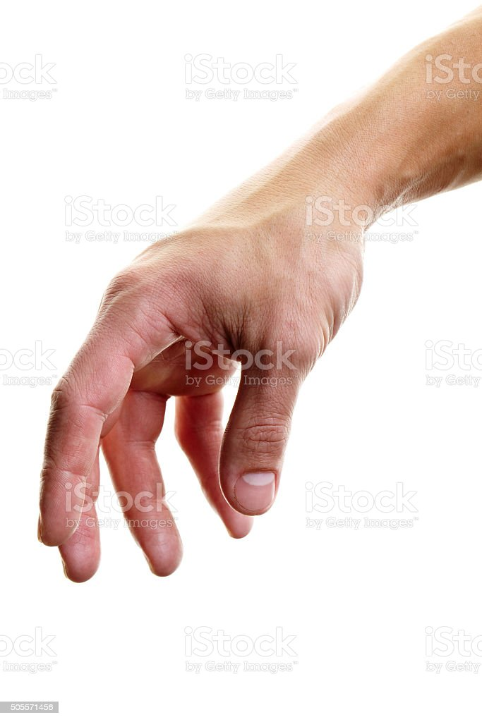 Reaching hand stock photo
