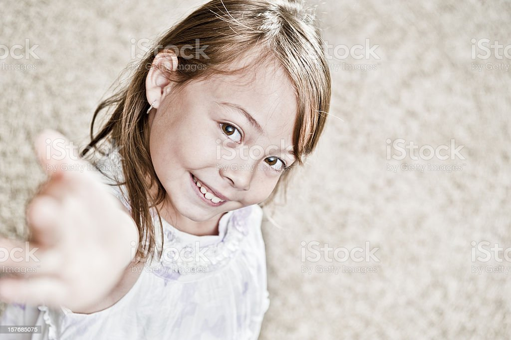 Reaching Kid stock photo
