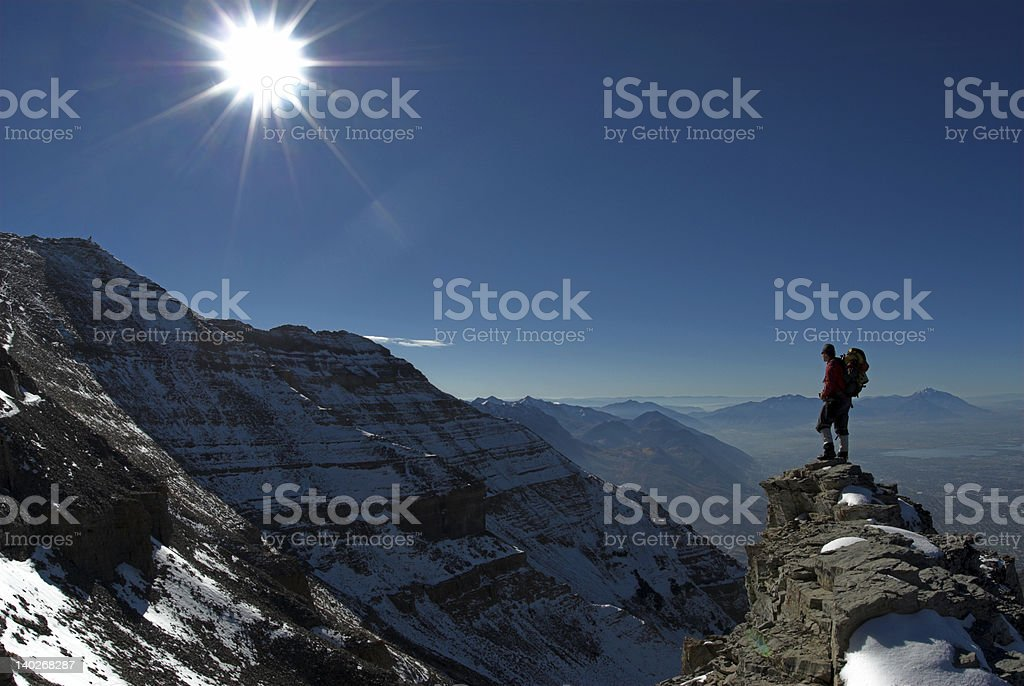 Reaching new heights royalty-free stock photo