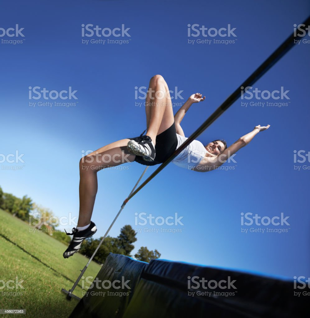 Reaching new heights stock photo
