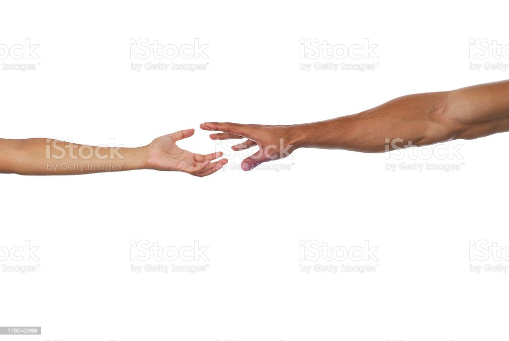 Reaching Out For A Helping Hand royalty-free stock photo