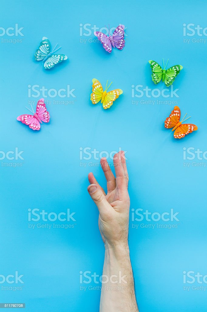 Reaching Out For Butterflies stock photo