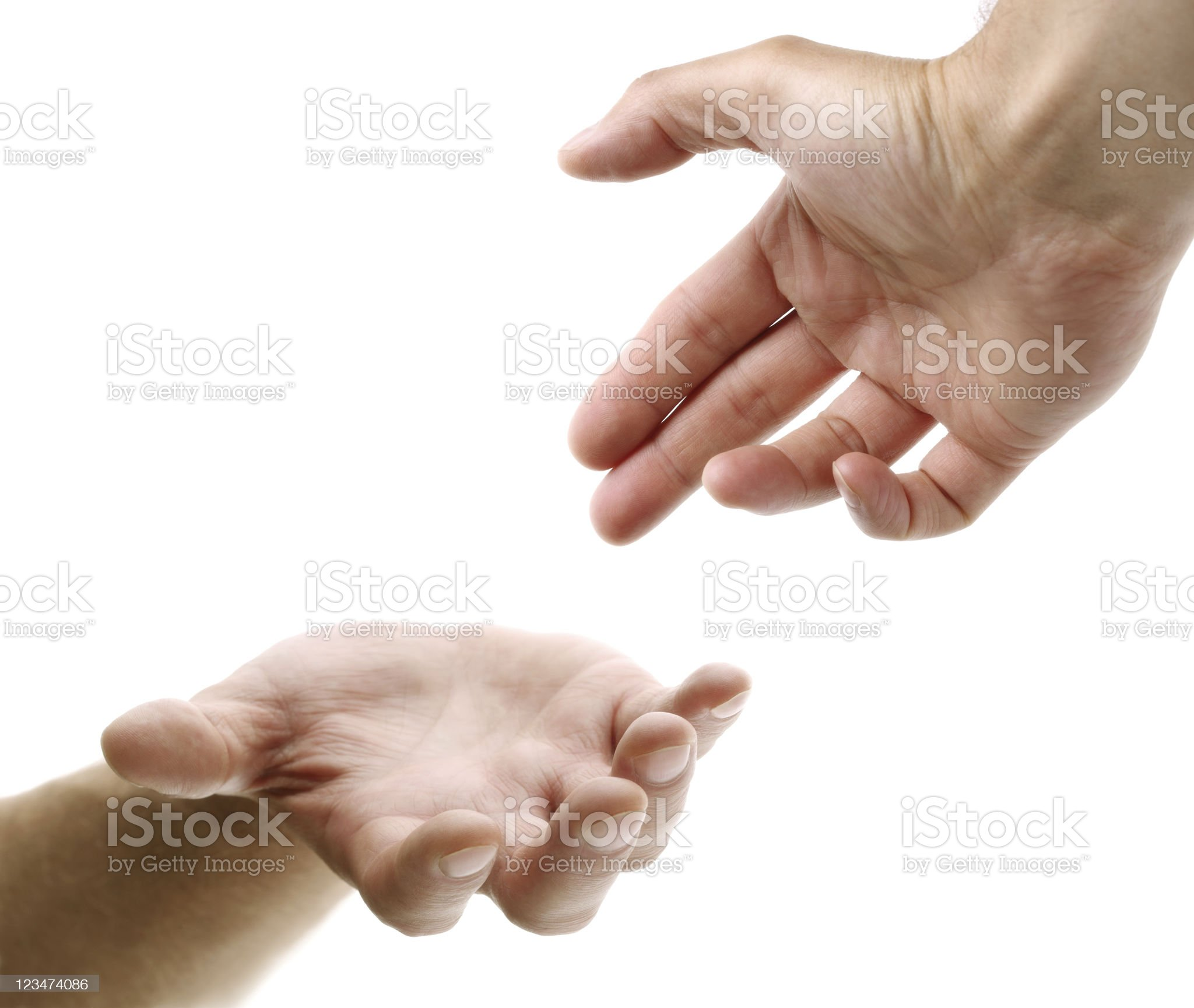 Reaching out for help royalty-free stock photo