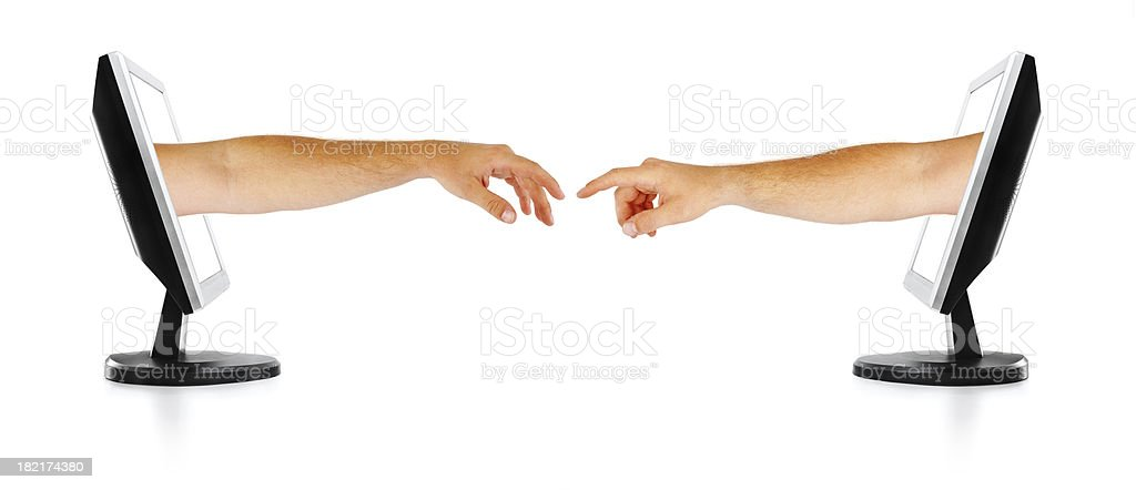Reaching Out - isolated royalty-free stock photo