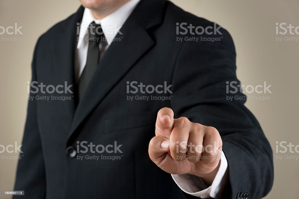 Reaching out to touch a touchscreen royalty-free stock photo
