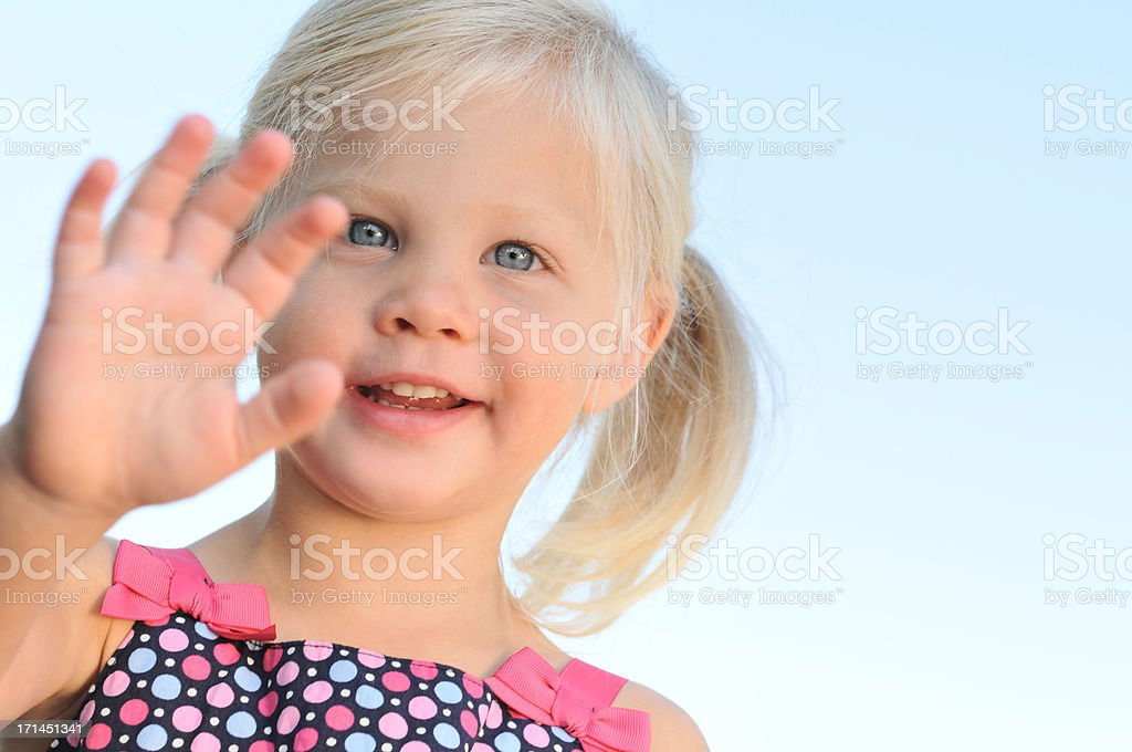 Reaching royalty-free stock photo