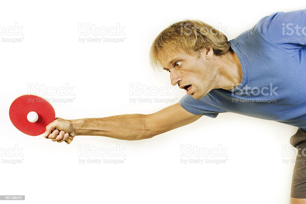 Reaching the ball royalty-free stock photo