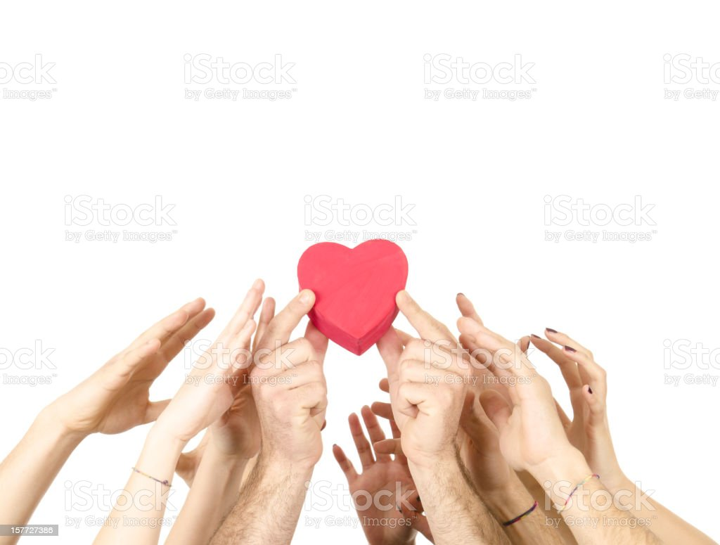 Reaching the love box royalty-free stock photo