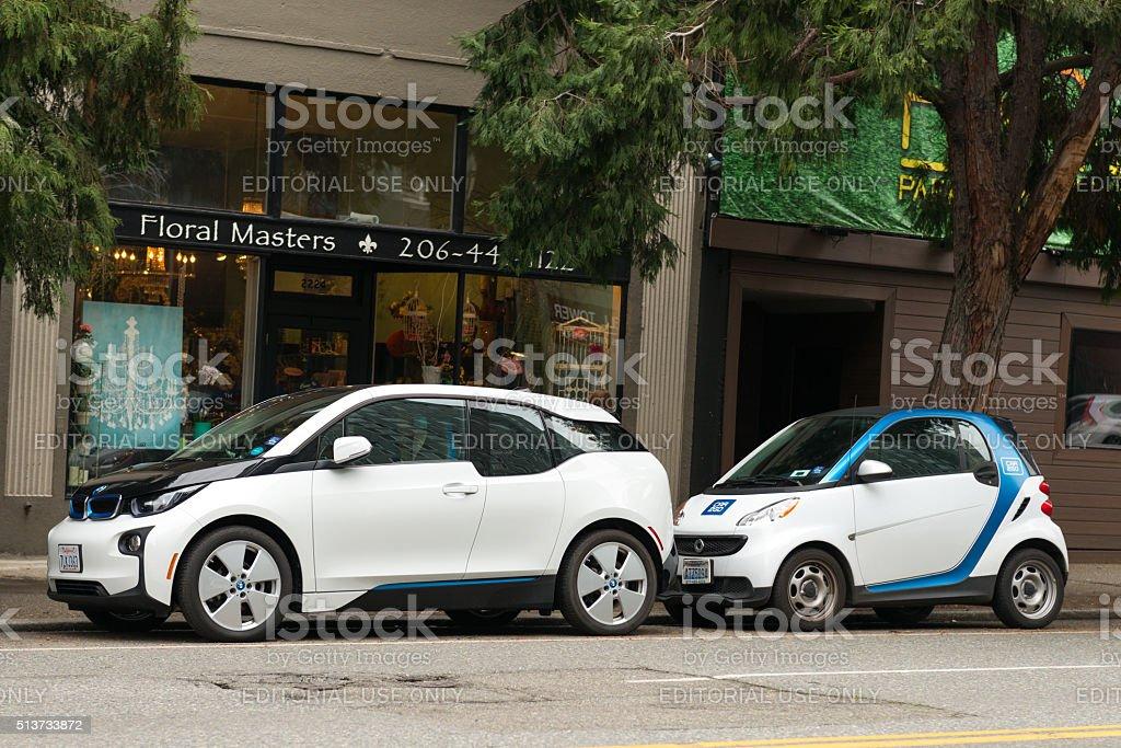 BMW ReachNow Car Sharing stock photo