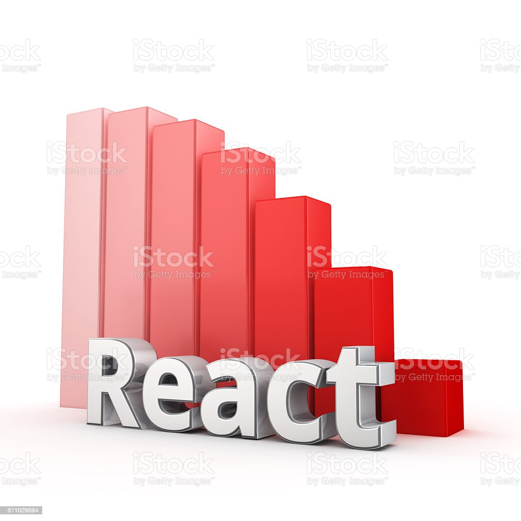 React is falling stock photo