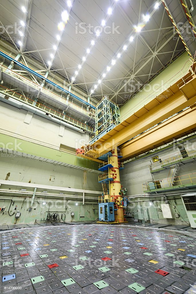 Reactor room RBMK. stock photo