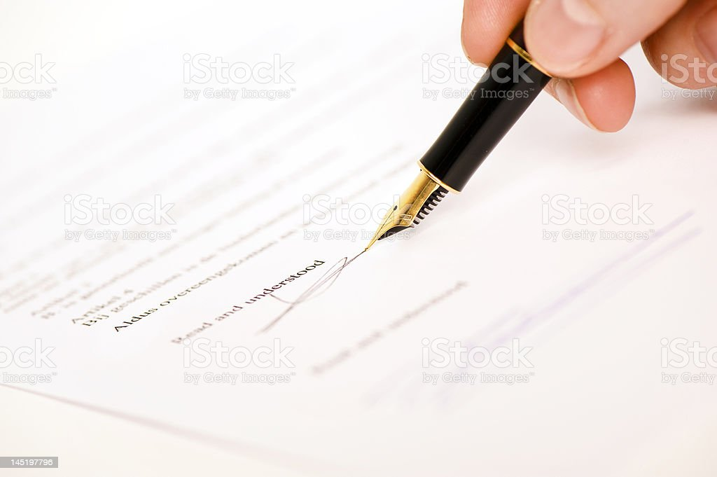 read and understood signature stock photo
