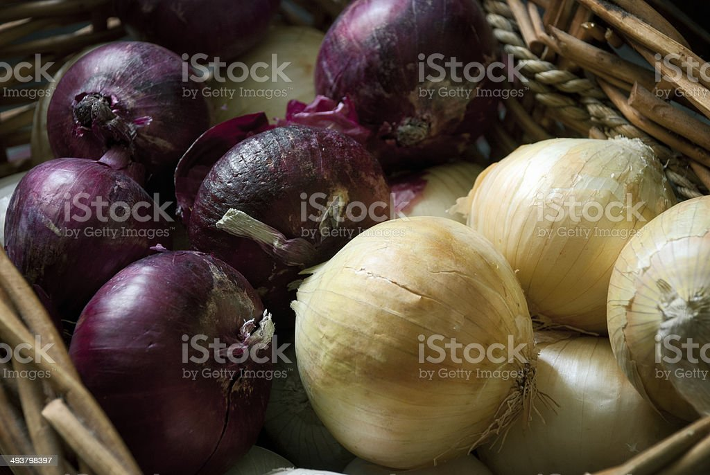 Read and Vidalia Onions in Natural Light stock photo