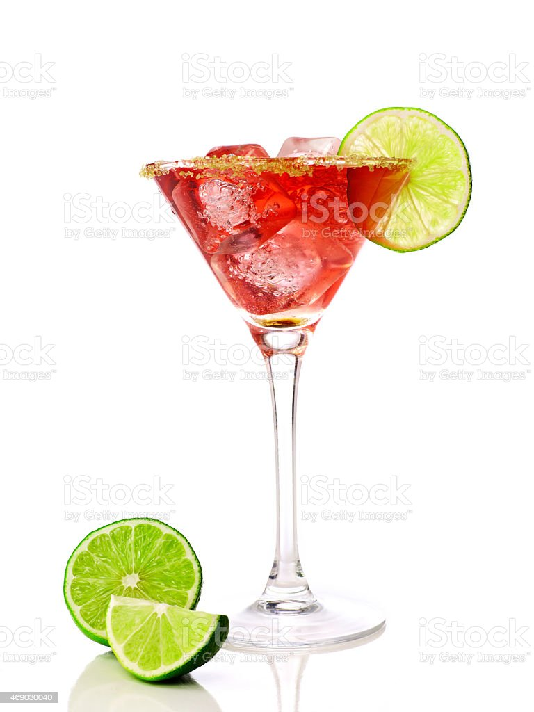 Read martini in a cocktail glass stock photo