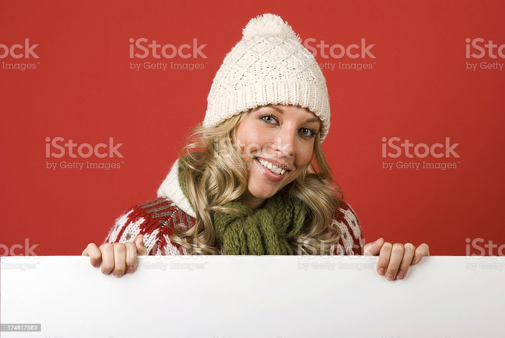 Read My Christmas Message! royalty-free stock photo