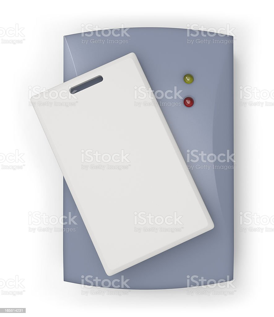 RFID reader with card stock photo