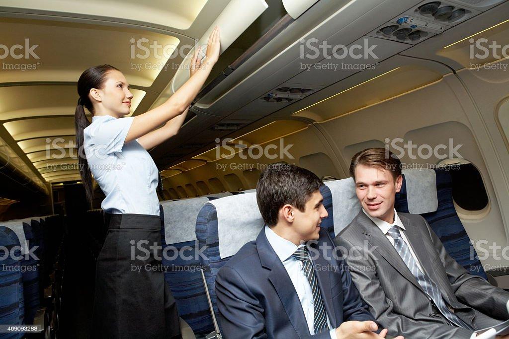 Readiness for flight stock photo
